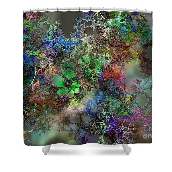 Bubbles Shower Curtain by Klara Acel