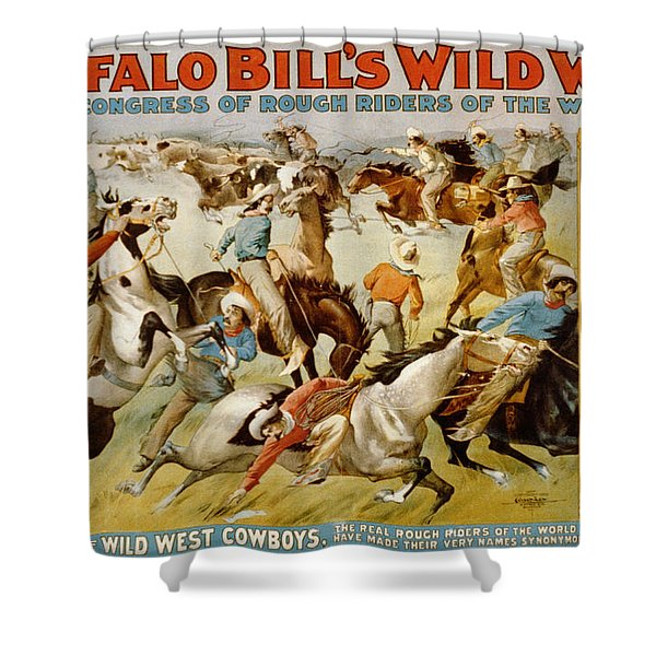 Buffalo Bills Wild West Shower Curtain by Unknown