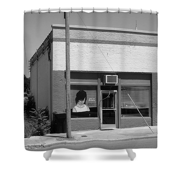 Burlington North Carolina - Small Town Business Shower Curtain by Frank Romeo
