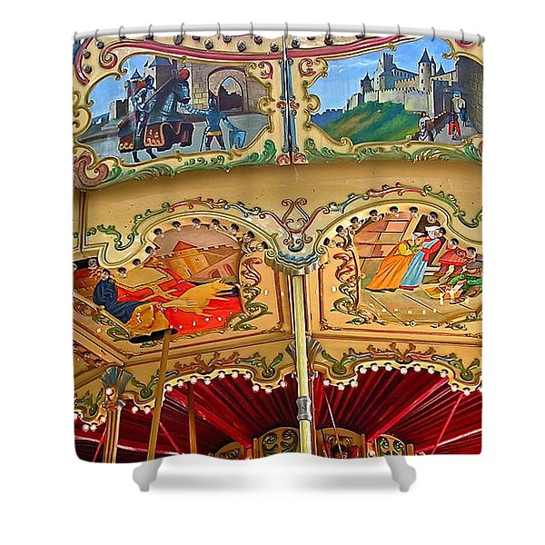 Carcassonne Carousel Shower Curtain by FRANCE  ART
