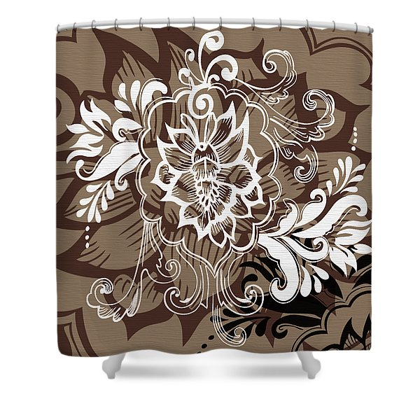 Coffee Flowers 10 Shower Curtain by Angelina Vick