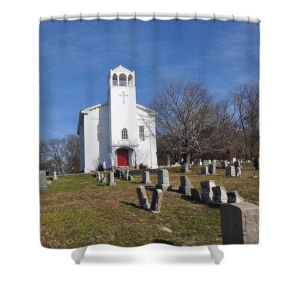 Cold Point Baptist Church Shower Curtain by Bill Cannon