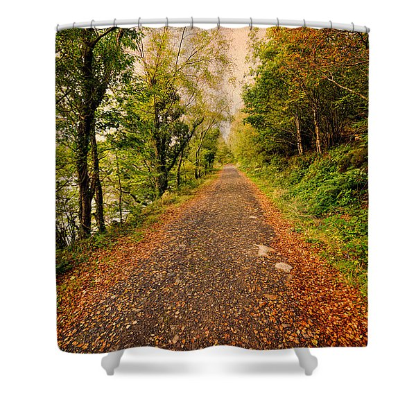 Country Lane Shower Curtain by Adrian Evans