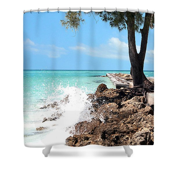 Crash Shower Curtain by Ryan Burton