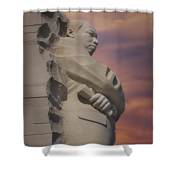 Dr. Martin Luther King Jr Memorial Shower Curtain by Susan Candelario