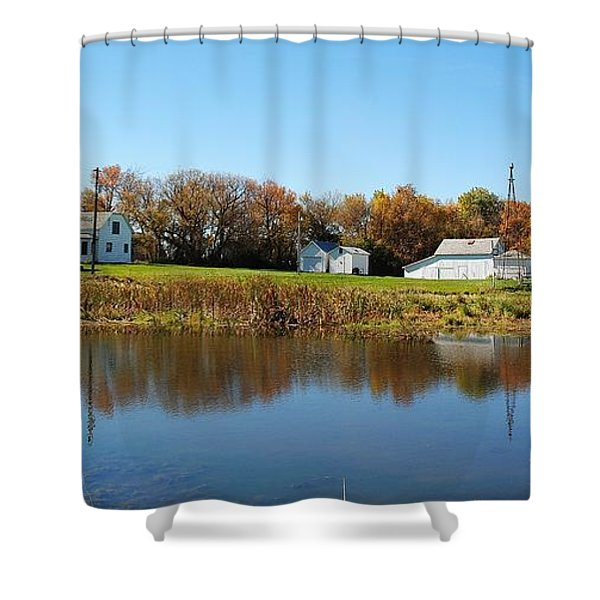 Family farm Shower Curtain by Todd and candice Dailey