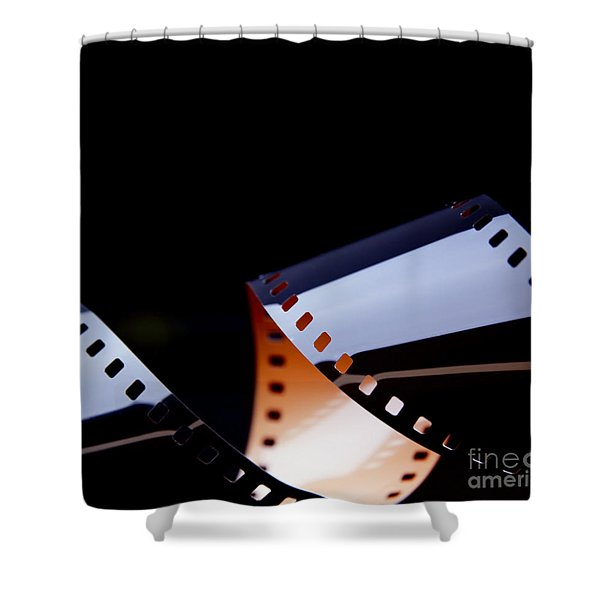 Film Strip Abstract Shower Curtain by Tim Hester
