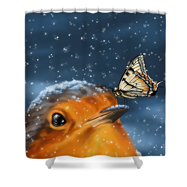 Friends Shower Curtain by Veronica Minozzi