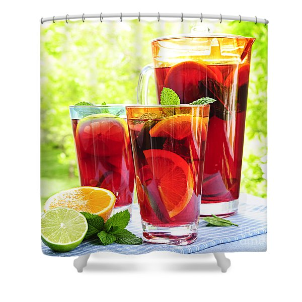 Fruit punch  Shower Curtain by Elena Elisseeva
