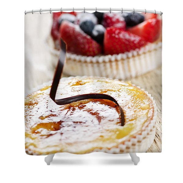 Fruit Tarts Shower Curtain by Elena Elisseeva