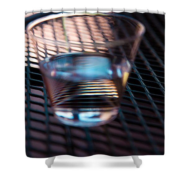 Glass Half Full Shower Curtain by David Patterson