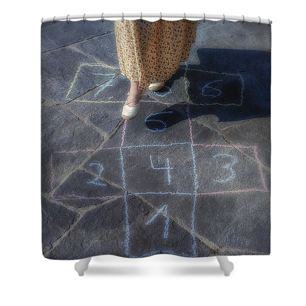 Hopscotch Shower Curtain by Joana Kruse