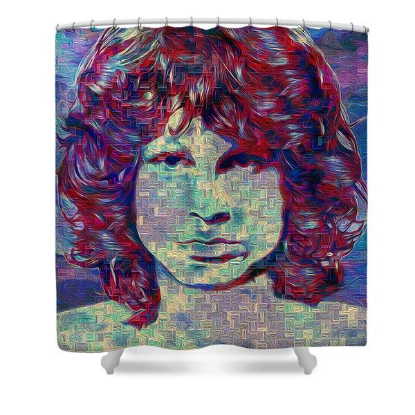Jim Morrison Shower Curtain by Jack Zulli