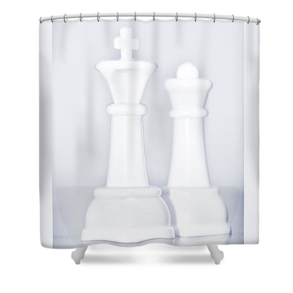 KING AND QUEEN  Shower Curtain by ROB HANS
