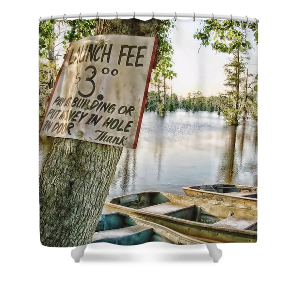 Launch Fee Shower Curtain by Scott Pellegrin