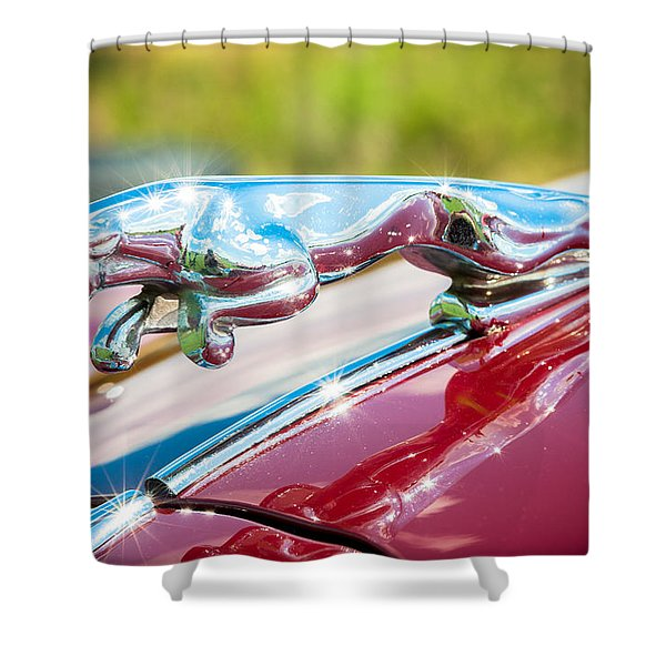 Leaping Jaguar Shower Curtain by Sebastian Musial