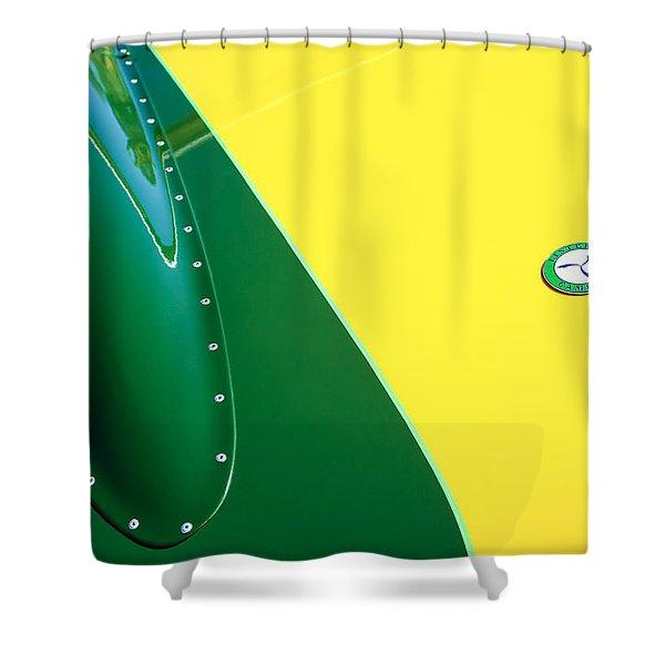 Lister Hood Emblem Shower Curtain by Jill Reger