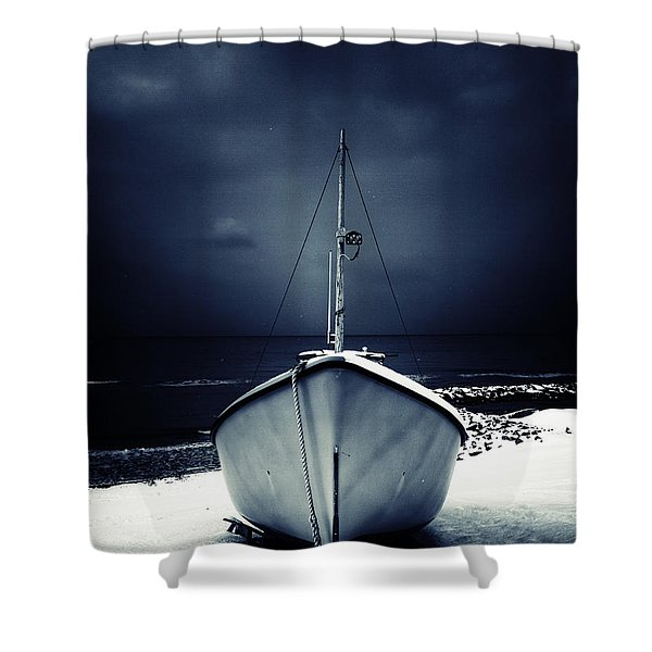 loneliness Shower Curtain by Stylianos Kleanthous
