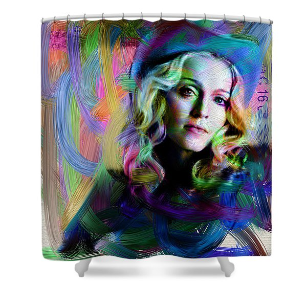 Madonna Shower Curtain by Unknown
