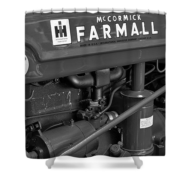 Mc Cormick Farmall Super C Shower Curtain by Susan Candelario
