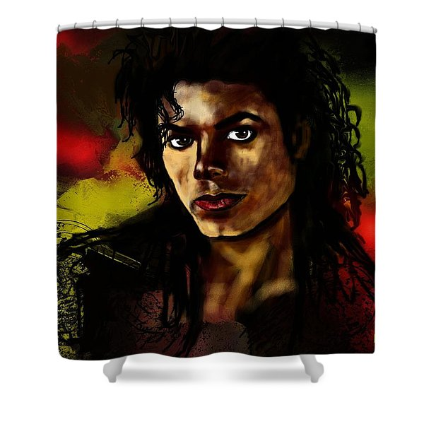 Michael Shower Curtain by Francoise Dugourd-Caput