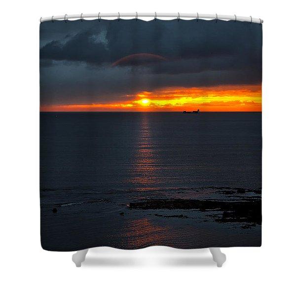 Northumbrian Day Break Shower Curtain by Jim Jones