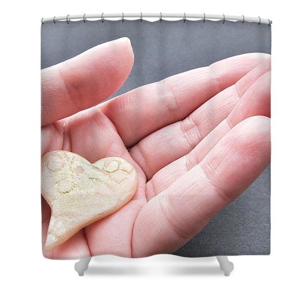 One Love Shower Curtain by Marianna Mills