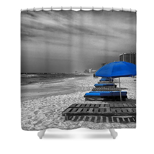 Orange Beach in Alabama Shower Curtain by Mountain Dreams