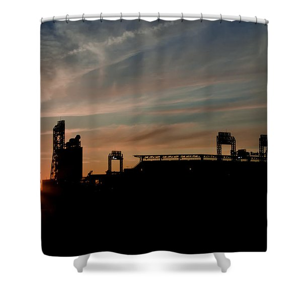 Phillies Stadium at Dawn Shower Curtain by Bill Cannon