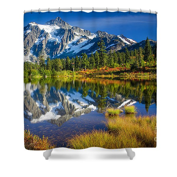 Picture Lake Shower Curtain by Inge Johnsson