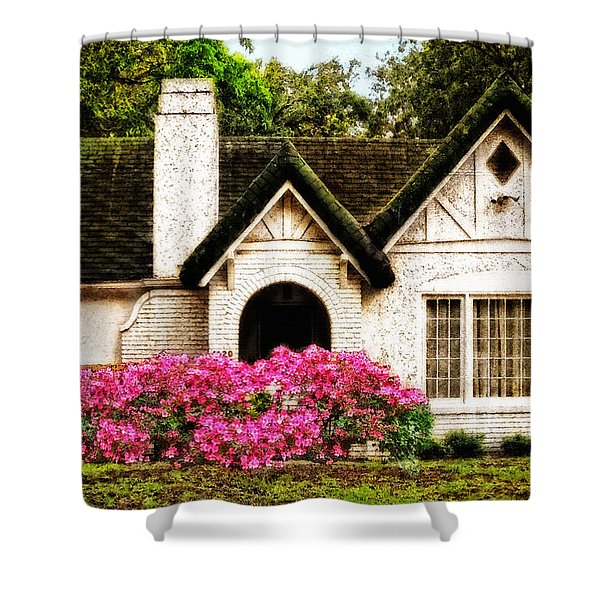 Pink Azaleas - Old Southern Charm By Sharon Cummings Shower Curtain by Sharon Cummings