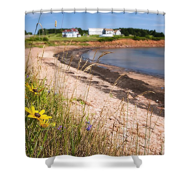 Prince Edward Island coastline Shower Curtain by Elena Elisseeva