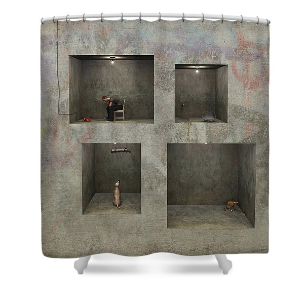 Regarding Desire Shower Curtain by Cynthia Decker