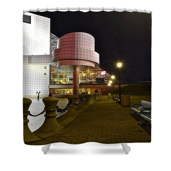 Rock n Roll Hall of Fame Shower Curtain by Frozen in Time Fine Art Photography