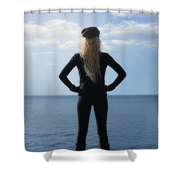 self-confidence Shower Curtain by Joana Kruse