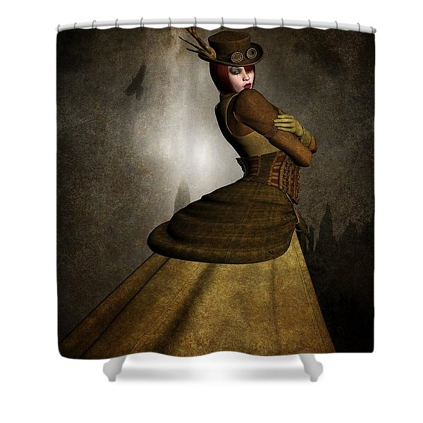 Steam Punk Woman Shower Curtain by Todd and candice Dailey
