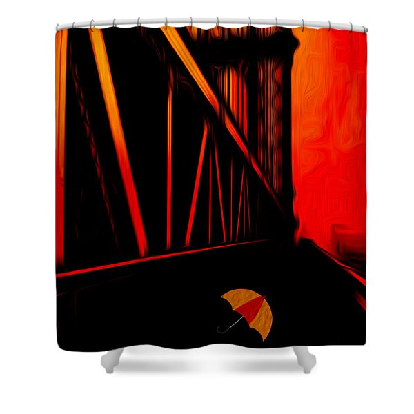 Sunset Shower Curtain by Jack Zulli