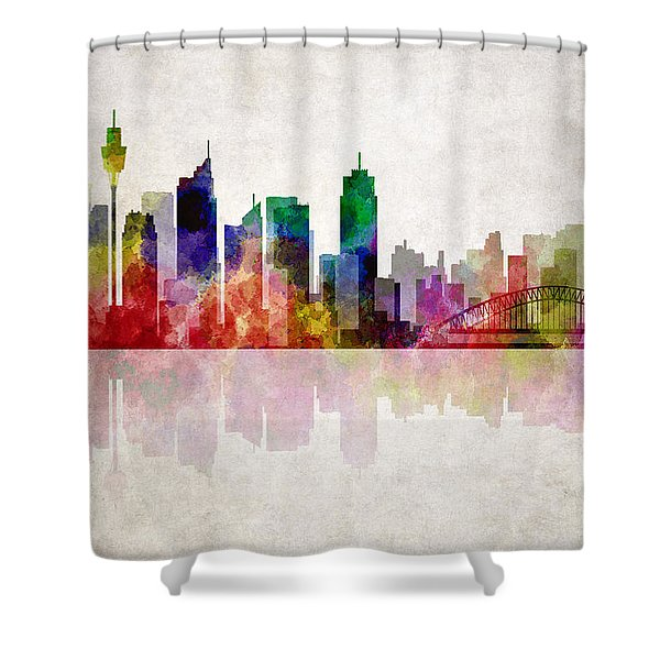 Sydney Australia Skyline Shower Curtain by Daniel Hagerman