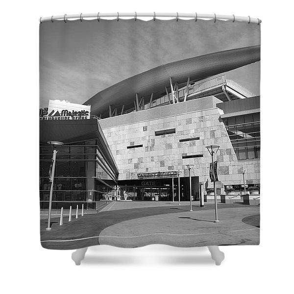 Target Field - Minnesota Twins Shower Curtain by Frank Romeo