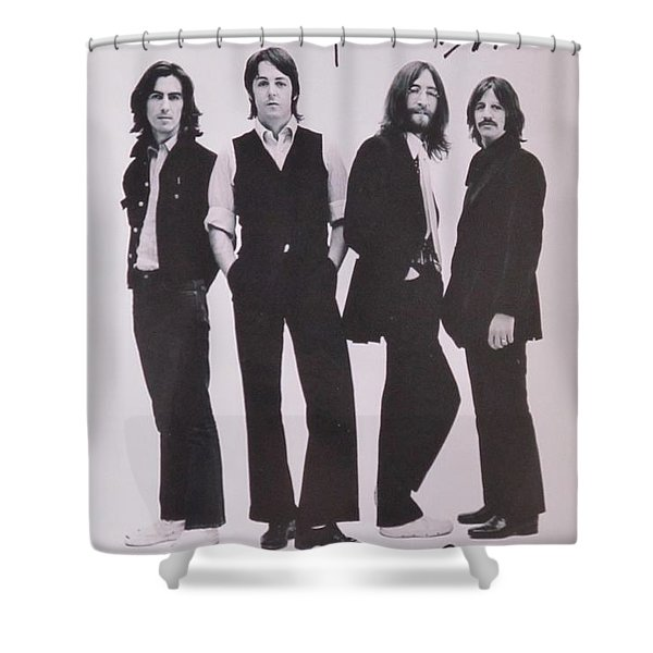 The Beatles Shower Curtain by Donna Wilson