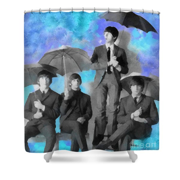 The Beatles Shower Curtain by Paulette B Wright