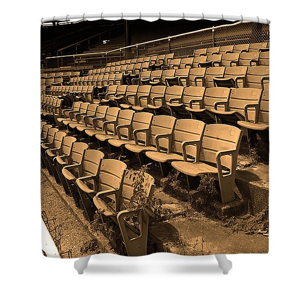 The Old Ballpark Shower Curtain by Frank Romeo