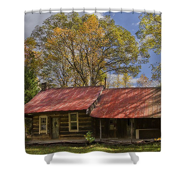 The Old Homestead Shower Curtain by Debra and Dave Vanderlaan