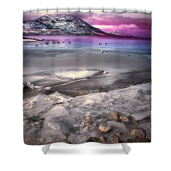 The Thaw Shower Curtain by Tara Turner