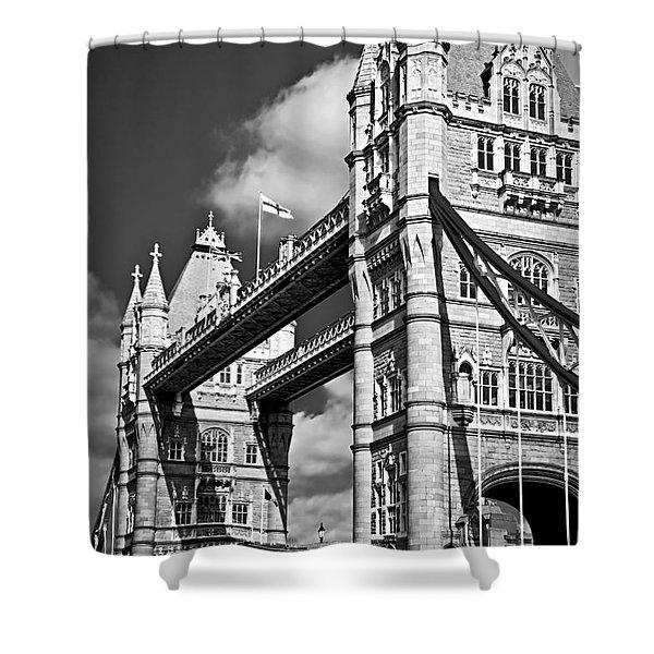 Tower bridge in London Shower Curtain by Elena Elisseeva