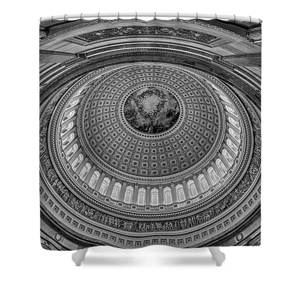 Us Capitol Rotunda Shower Curtain by Susan Candelario