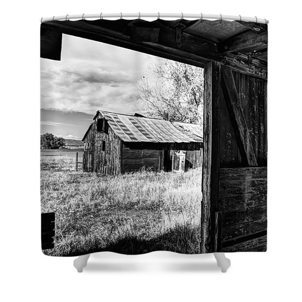 View From the Barn Shower Curtain by Mountain Dreams