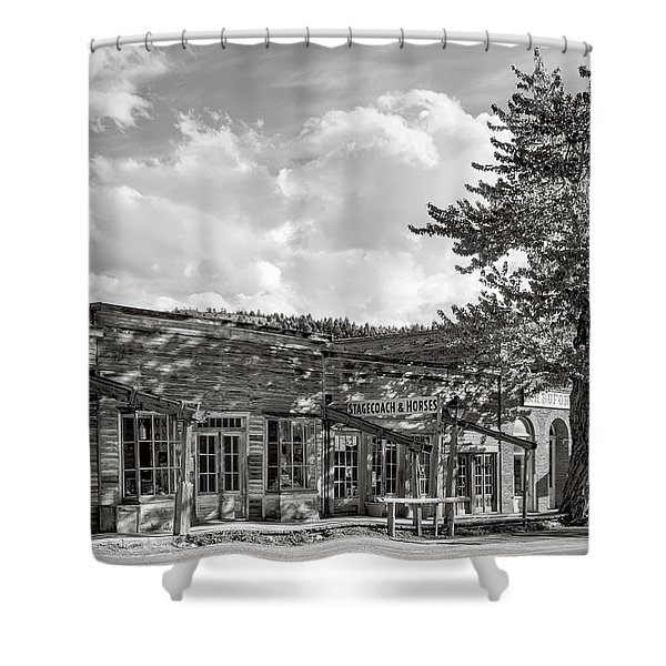 Virginia City Montana Ghost Town Shower Curtain by Daniel Hagerman