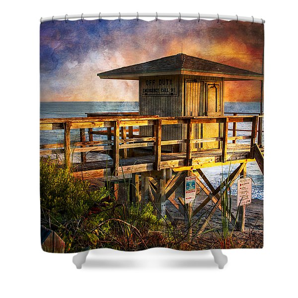 Waiting For Customers Shower Curtain by Debra and Dave Vanderlaan