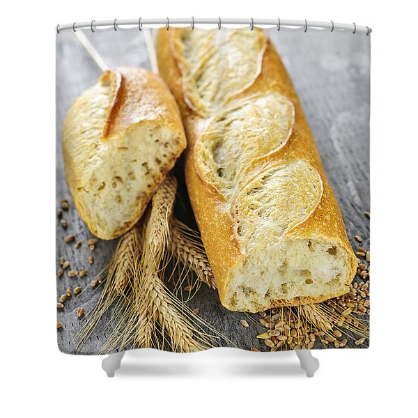 White baguette Shower Curtain by Elena Elisseeva
